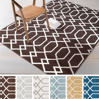 "Meticulously Woven Tampa Modern Geometric Area Rug (7'10"" x 10'3"")"