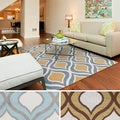 Meticulously Woven Percy Modern Geometric Area Rug (7'10
