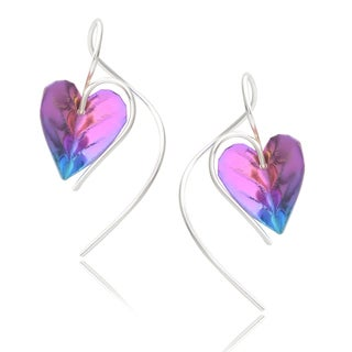 Journee Collection Sterling Silver Niobium Handcrafted Earrings