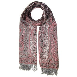 Saachi Women's Paisley Wool Blend Scarf (India)