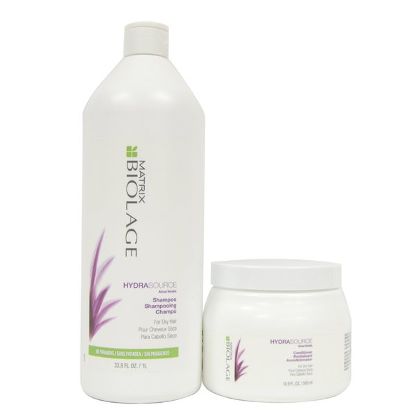 Matrix Biolage Hydrasource 33.8-ounce Shampoo and 16.9-ounce Conditioner
