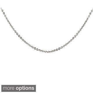 Mondevio Silver 1mm Rolo Chain Necklace