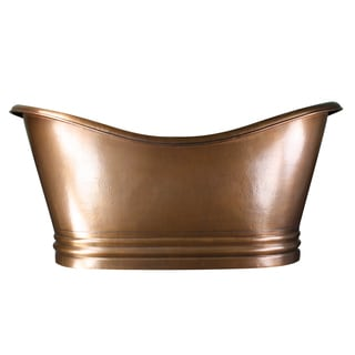 Highpoint Collection 71-inch Copper Large Double Slipper Soaking Bathtub