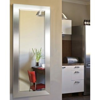 American Made Rayne Silver Wide 26 x 64 Full Body Mirror