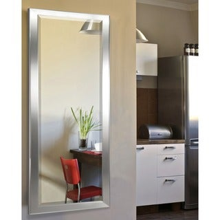 American Made Rayne Minimal Silver 24.5 x 62.5-inch Full Body Mirror