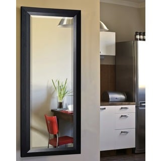 American Made Rayne Popular Black Slant 26 x 64-inch Full Body Mirror