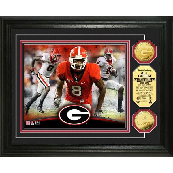 "NCAA AJ Green ""Georgia"" Gold Coin Photo Mint"