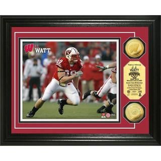 "NFL JJ Watt ""Wisconsin"" Gold Coin Photo Mint"