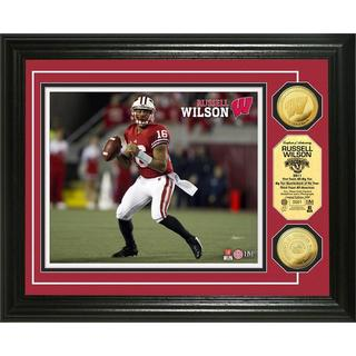 "NFL Russell Wilson ""Wisconsin"" Gold Coin Photo Mint"