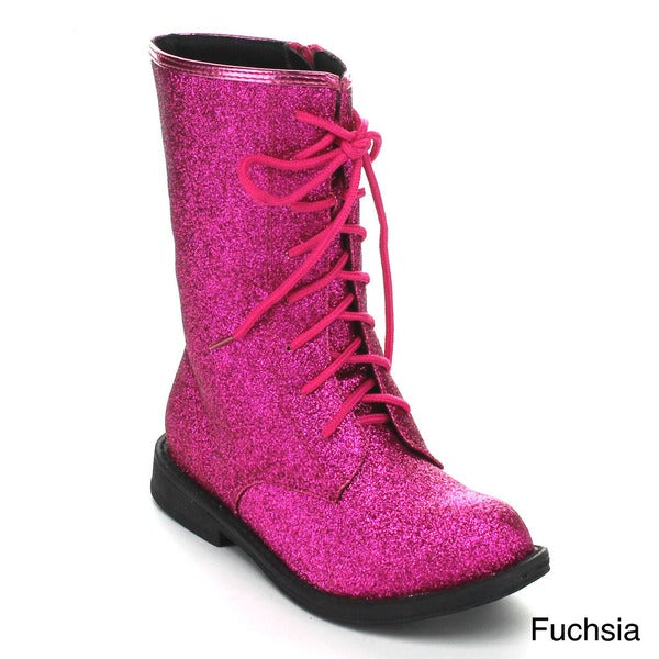 Jelly Beans Girls 'Vemini' Glittery Combat Boots