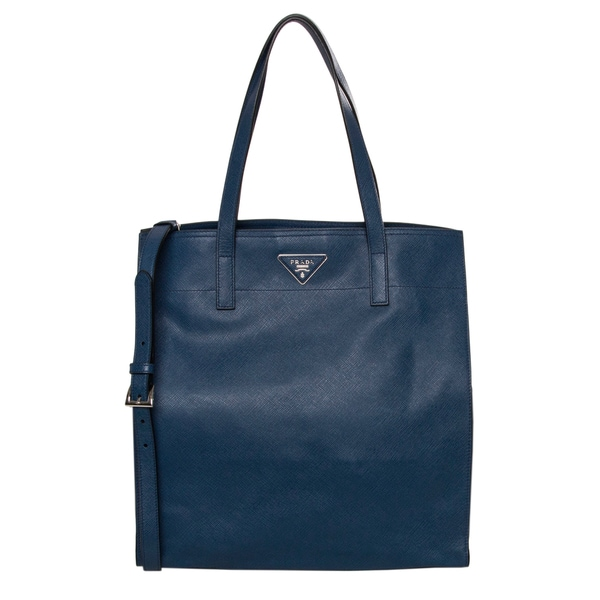 Prada Navy Saffiano Leather Tote