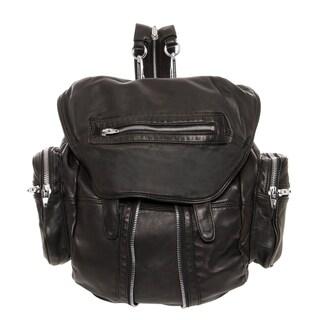 Alexander Wang 'Marti' Black Lambskin Leather Backpack