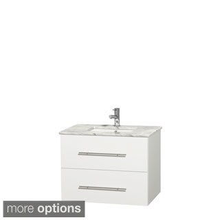 Wyndham Collection Centra 30-inch Single Bathroom Vanity in White, No Mirror