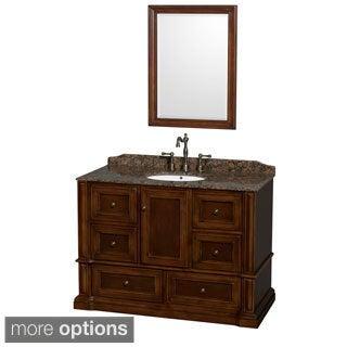 Rochester 48-inch Single Bathroom Vanity Cherry, 24-inch Mirror