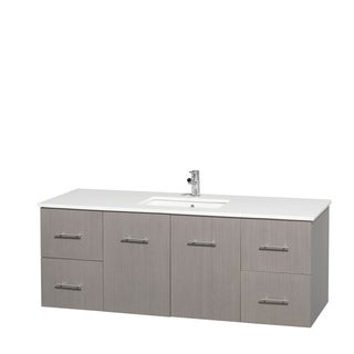 Design Element Stanton Single Sink Carrara White Marble
