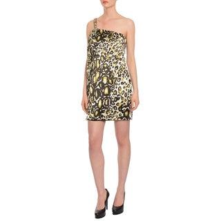 Marc Bouwer Women's Glamit Cheetah Beaded Cocktail Evening Dress