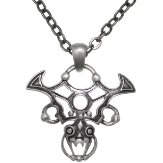 CGC Pewter Gothic Tribal Dragon 24-inch ChainPendant Necklace