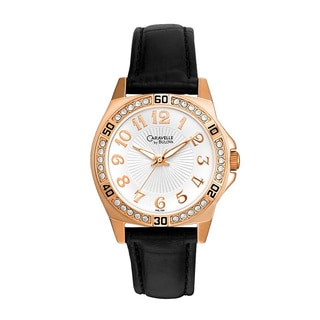 Caravelle by Bulova Women's 44L104 Rose Goldtone Crystal Watch