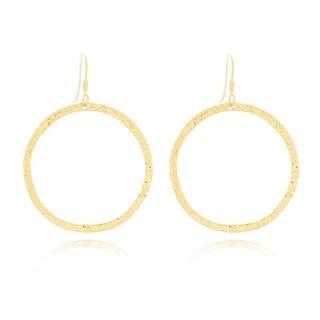 Small Textured Round Hoop Earrings