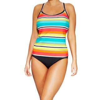 Women's Plus Size Sunkissed Striped Camikini