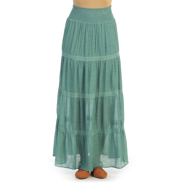 Amazing Skirt  Buy Blue 9rasa Solid Women39s Broomstick Skirt Online