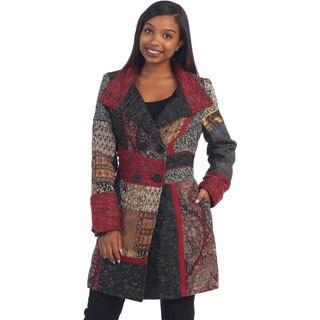 Hadari Women's Grey Multi-pattern Jacket
