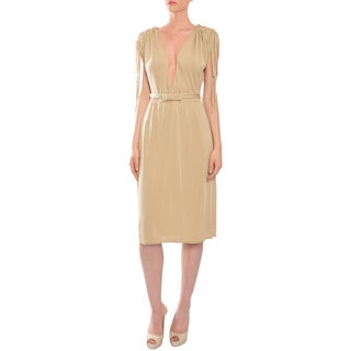 Valentino Women's 'Roma' Beige Fine Knit Day Dress