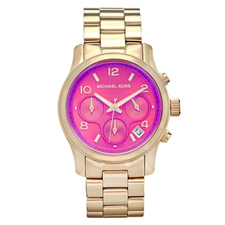 Michael Kors Women's MK5939 Runway Pink Iridescent Chronograph Watch