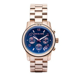 Michael Kors Women's MK5940 Runway Blue Iridescent Chronograph Watch