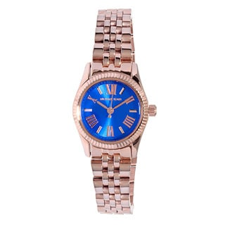 Michael Kors Women's MK3272 Petite Lexington Blue Dial Rosetone Watch