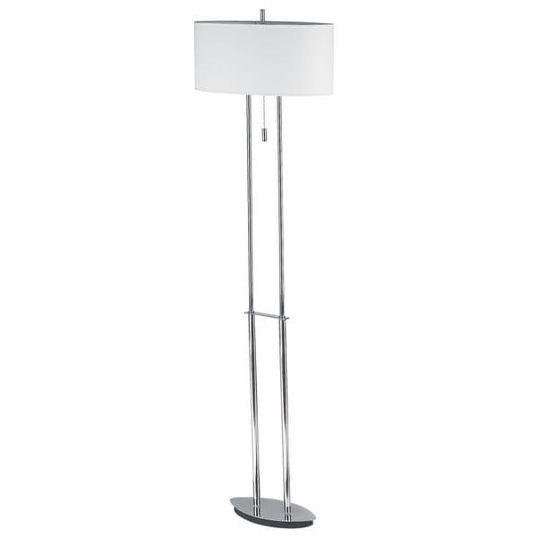 Dainolite Polished Chrome Oval-shade Floor Lamp