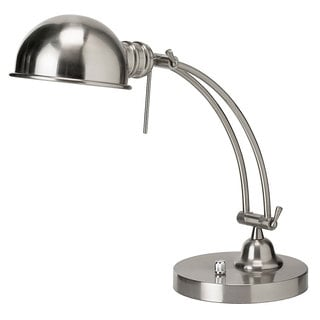 Satin Chrome Adjustable Arm and Shade Pharmacy Desk Lamp