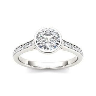 De Couer 14k White Gold 1 1/4ct TDW Contemporary Diamond Ring (H-I, I2)