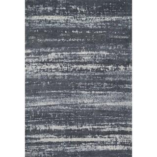 Microfiber Woven Stark Slate Rug (3'6 X 5'6)