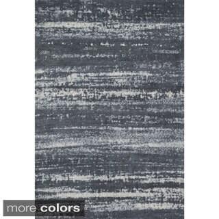 Microfiber Woven Stark Slate Rug (5'0 X 7'6)