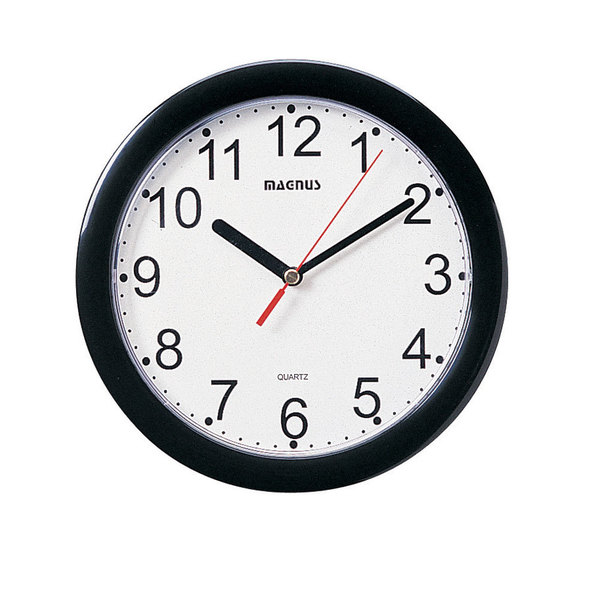 Magnus Black and White 8-inch Wall Clock
