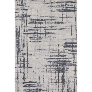 Microfiber Woven Stark Modern Abstract Rug (3'6 X 5'6)