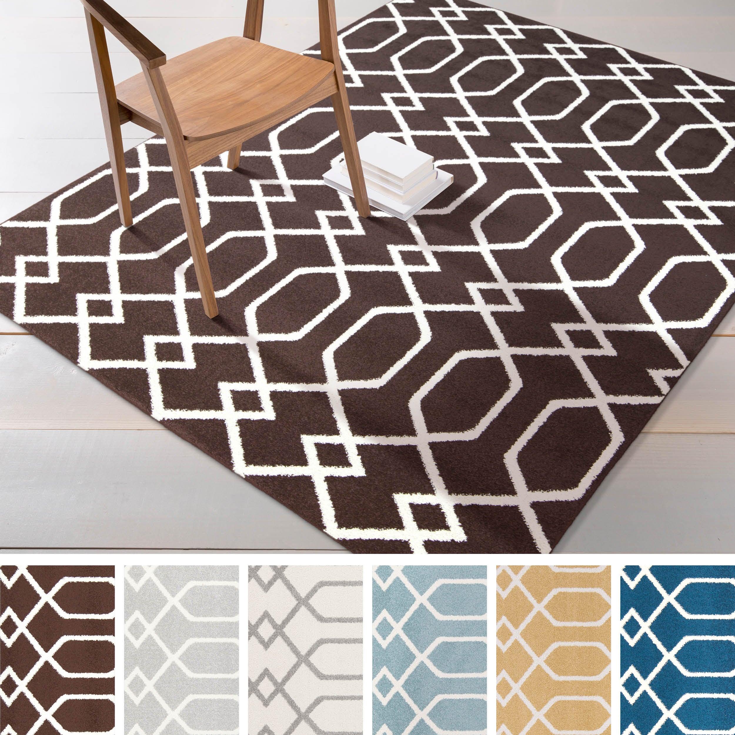 "Overstock.com Meticulously Woven Jixi Modern Geometric Area Rug (5'3"" x 7'3"") at Sears.com"