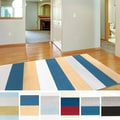 Meticulously Woven Hampton Casual Striped Area Rug (5'3