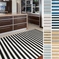 Meticulously Woven Haguenau Casual Striped Area Rug (5'3 x 7'3)