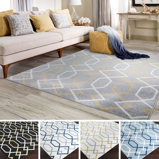 "Meticulously Woven Tanta Geometric Area Rug (7'10"" x 10'3"")"