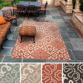 Olivia Contemporary Geometric Indoor/Outdoor Area Rug-(7'6 x 10'9)