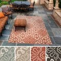 Olivia Contemporary Geometric Indoor/Outdoor Area Rug-(7'6 x 10'9)