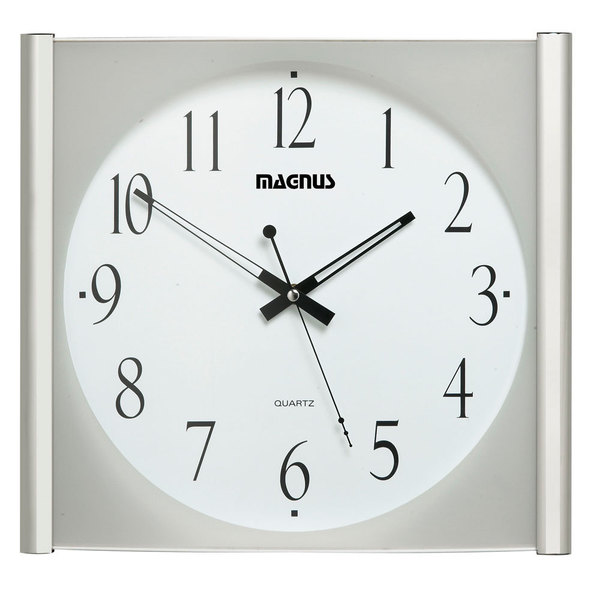 Magnus Polished Chrome 14-inch Wall Clock