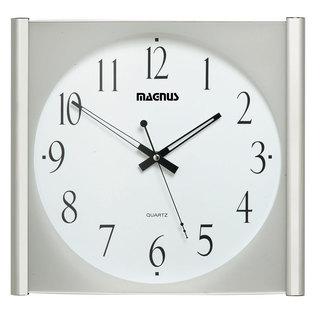 Magnus Polished Chrome 14-inch Wall Clock