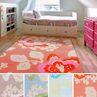 Meticulously Woven Butterfly Area Rug (8' x 11')