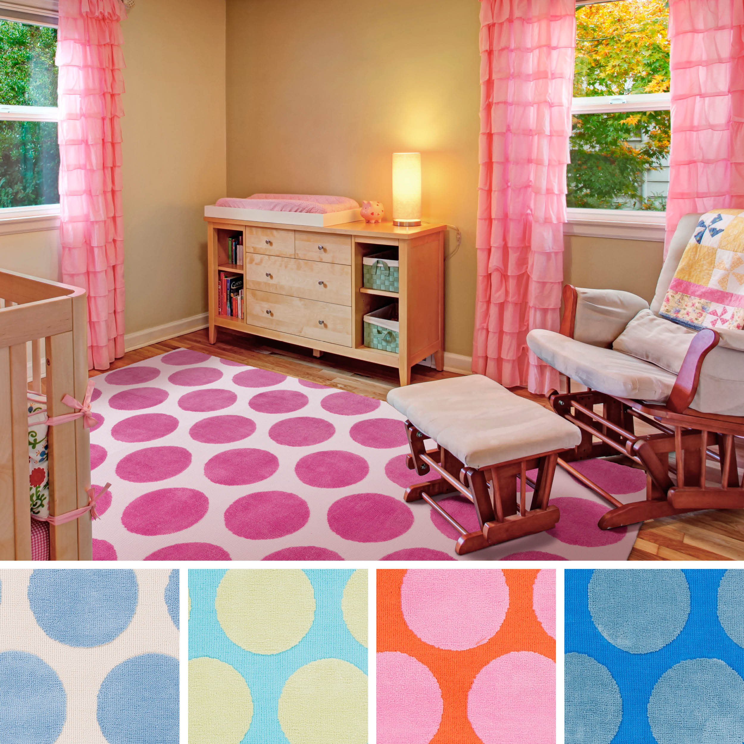 Overstock.com Meticulously Woven Whimsy Polka Dots Area Rug  (8' x 11') at Sears.com