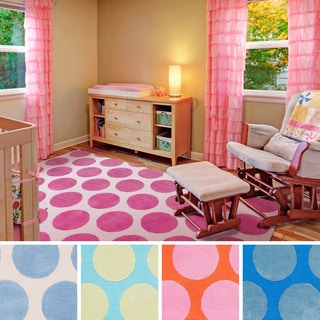 Meticulously Woven Whimsy Polka Dots Area Rug (5' x 8')