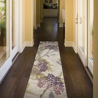 Hand Tufted Carrollton Transitional Floral Runner - (2'6 x 7'6)