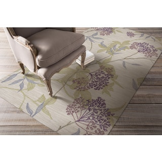 Hand-tufted Fresnes Transitional Floral Area Rug (5' x 7'6)